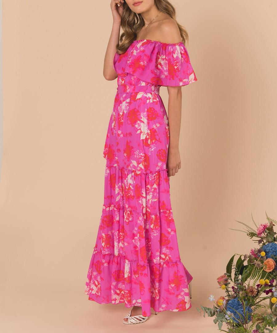 Melrose sunset pink silk maxi dress Sale - ATHENA PROCOPIOU