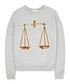 Grey pure cotton embroidered jumper Sale - Uzma Bozai Sale