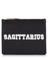 Sagittarius black & white leather clutch Sale - Uzma Bozai Sale