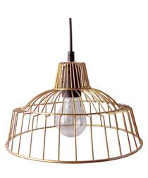 Loft copper-tone cage lamp
