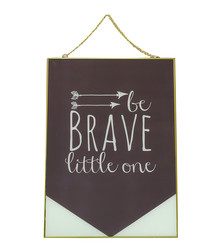 Be Brave gold-tone glass frame