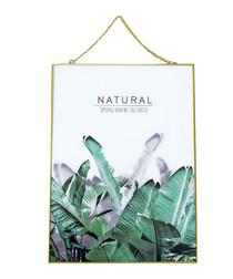 Tropical gold-tone glass frame