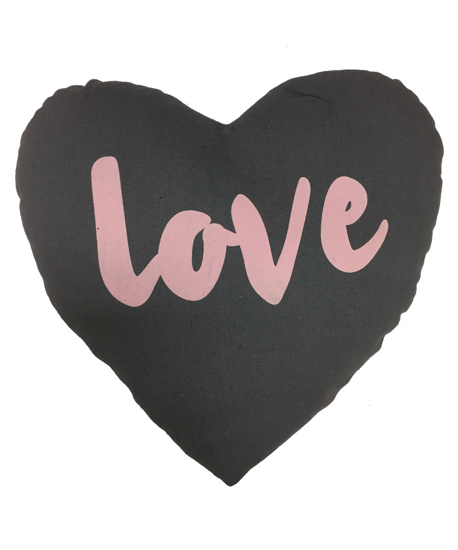 Love charcoal heart cushion Sale - Maiko
