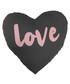 Love charcoal heart cushion Sale - Maiko Sale