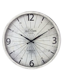 White vintage clock