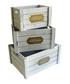 3pc white wood boxes Sale - Maiko Sale