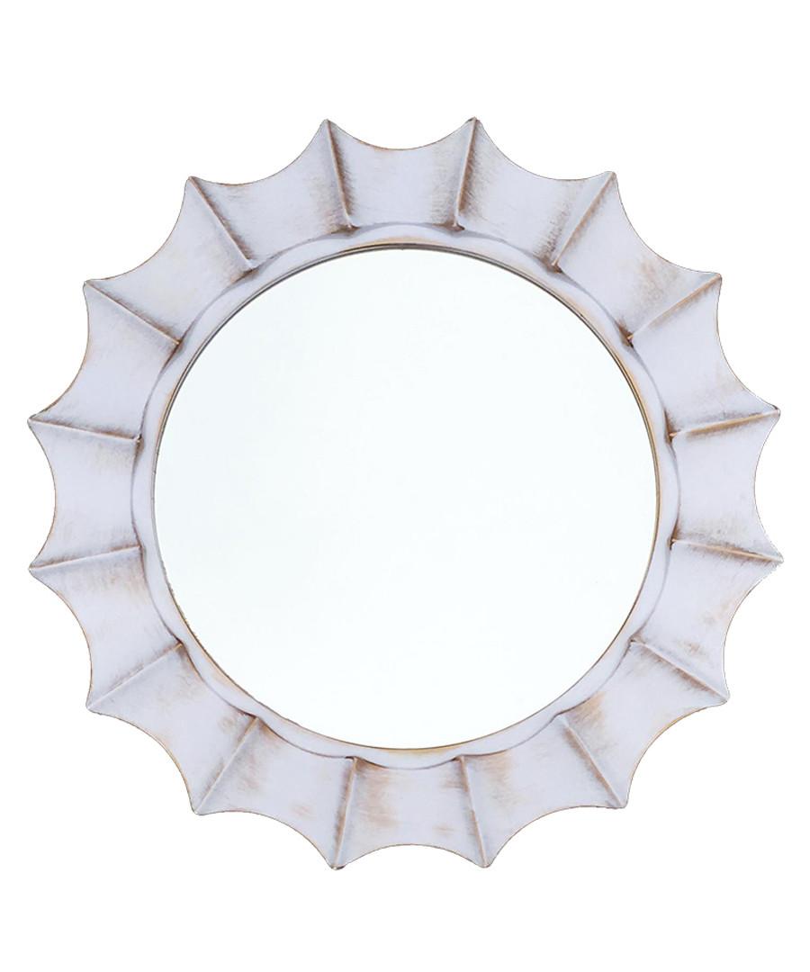 Moonlight white wall mirror Sale - Maiko