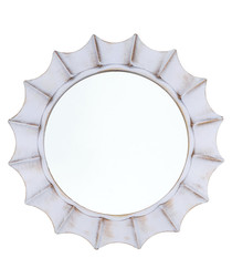 Moonlight white wall mirror