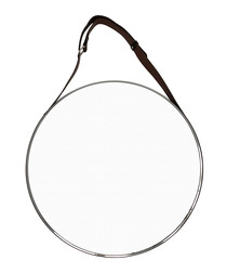 Etien silver-tone steel mirror