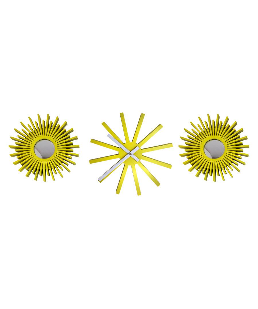 Neon yellow mirror & clock Sale - Maiko
