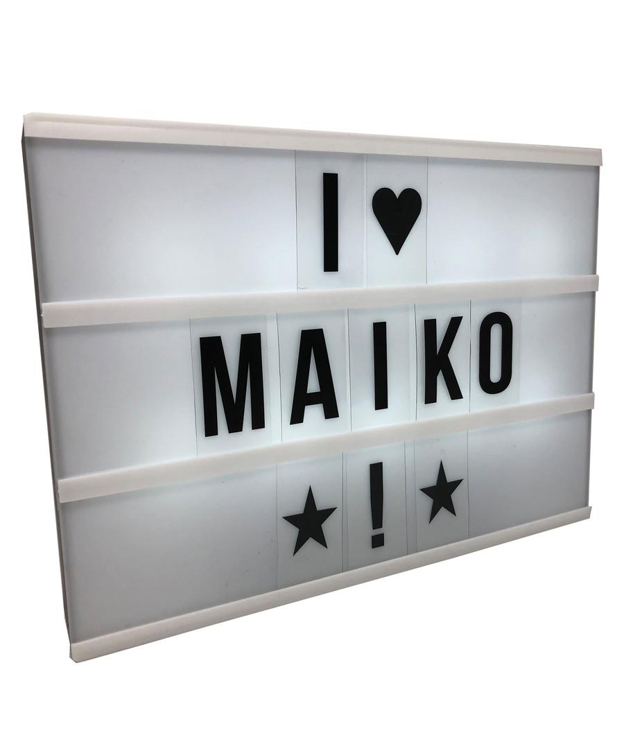 81pc white LED light box & letters Sale - Maiko