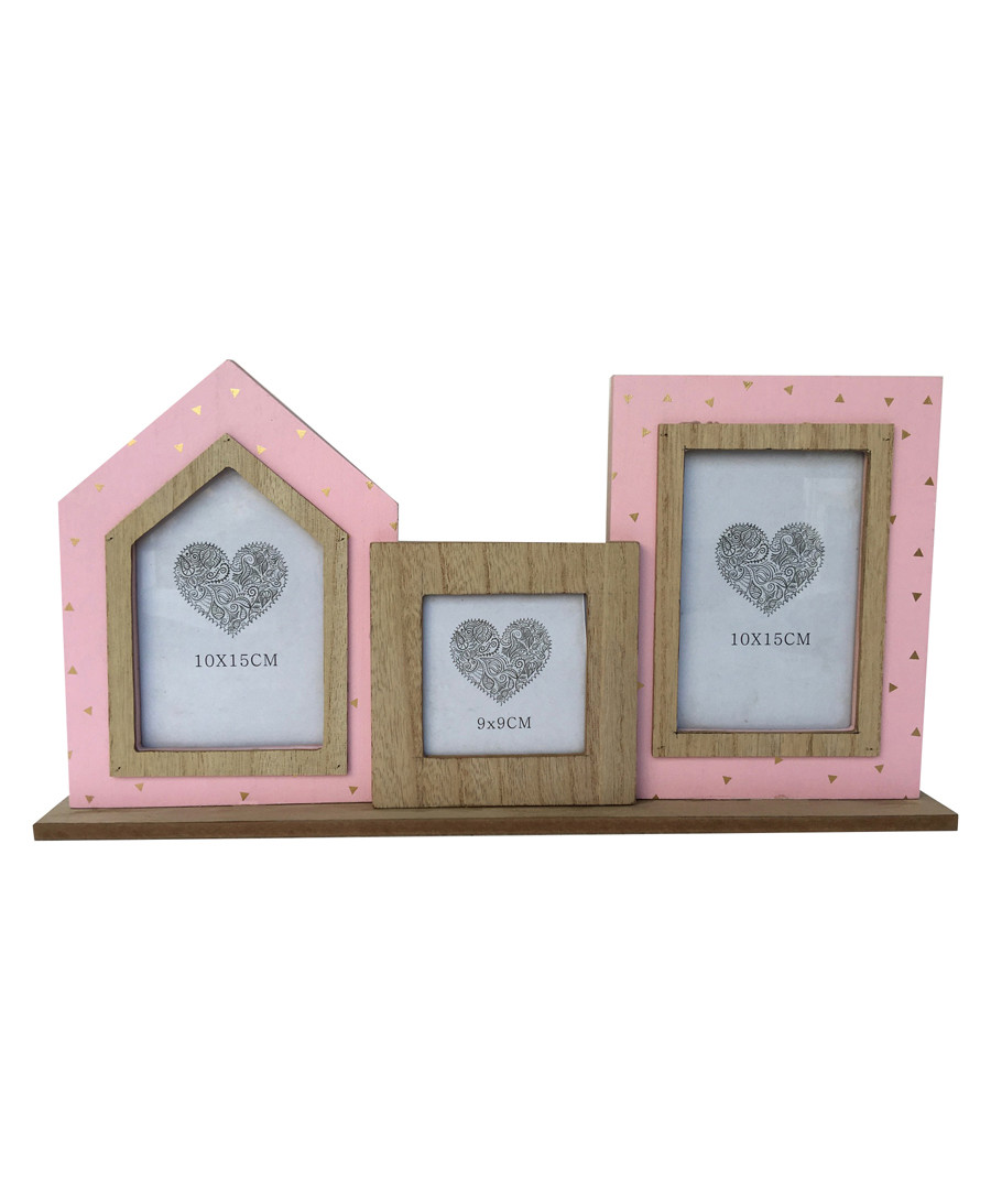 Natural & pink wood photo frame Sale - Maiko