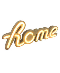 Home natural wood LED neon sign