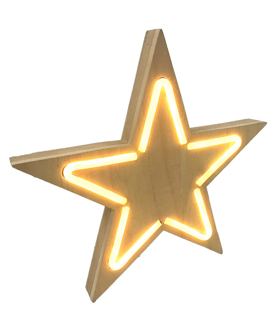 Star natural wood LED neon sign Sale - Maiko