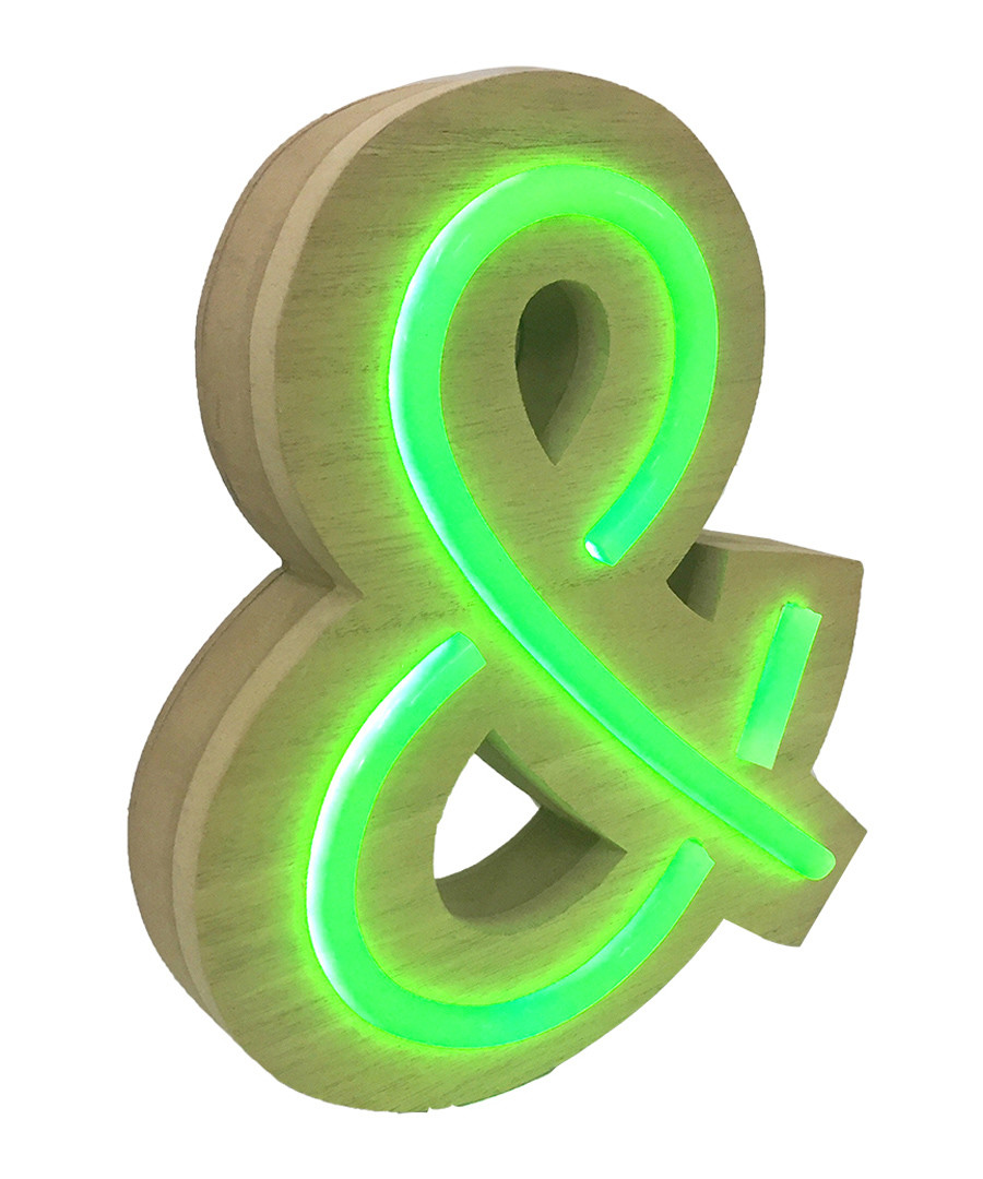 & natural wood LED neon sign Sale - Maiko