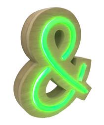 & natural wood LED neon sign