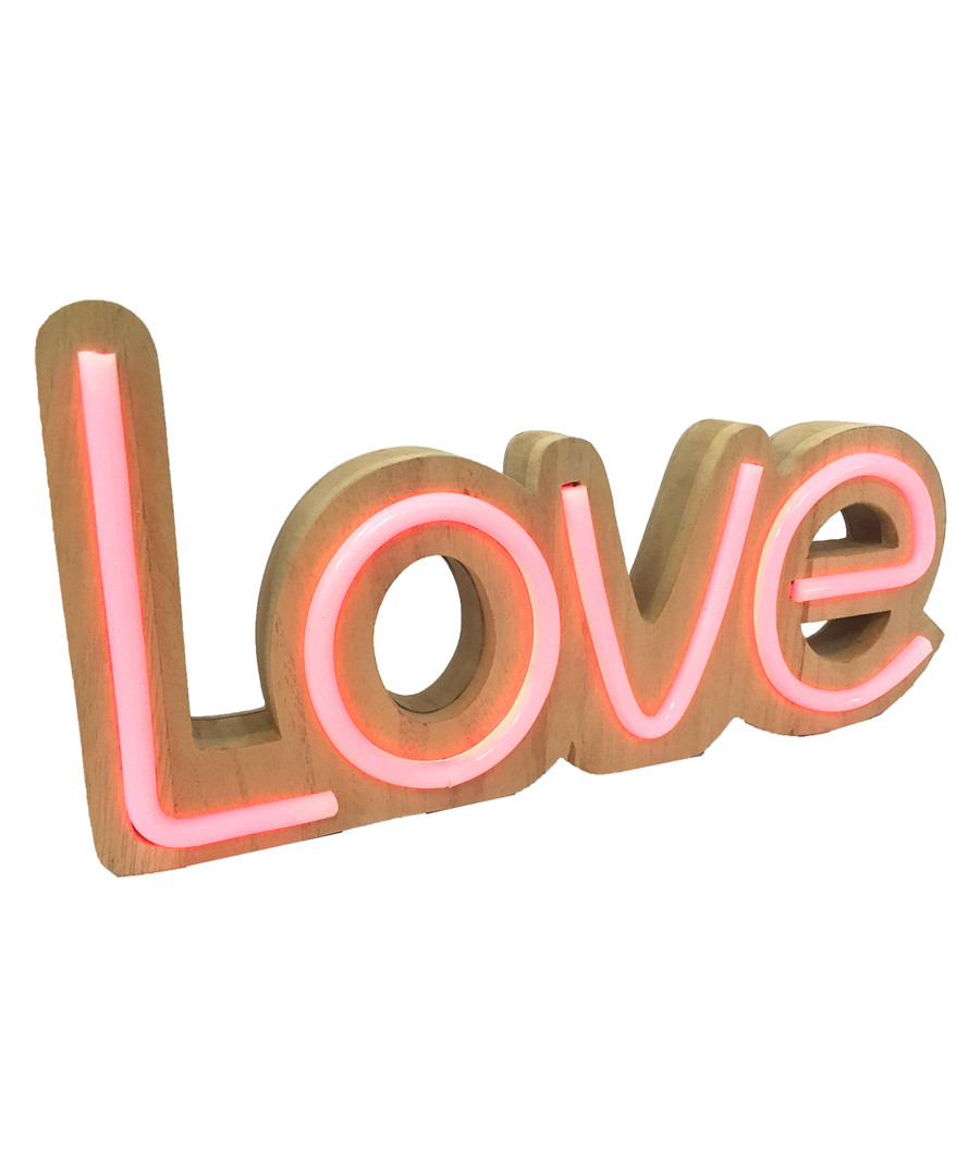 Love natural wood LED neon sign Sale - Maiko