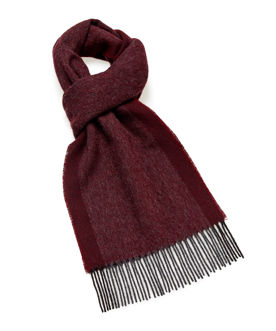 Dales wine lambswool scarf Sale - bronte
