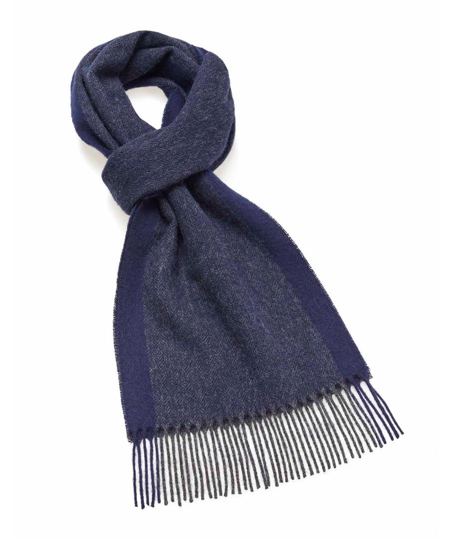Dales navy lambswool scarf Sale - bronte