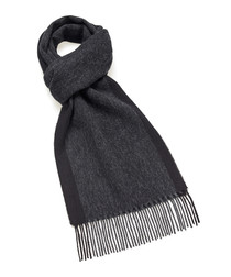 Dales charcoal lambswool scarf