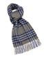 Dales royal blue & grey lambswool scarf Sale - bronte Sale