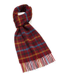 Dales wine lambswool scarf