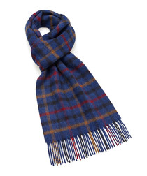 Dales royal blue lambswool scarf