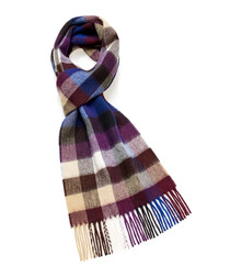 Dales plum lambswool scarf