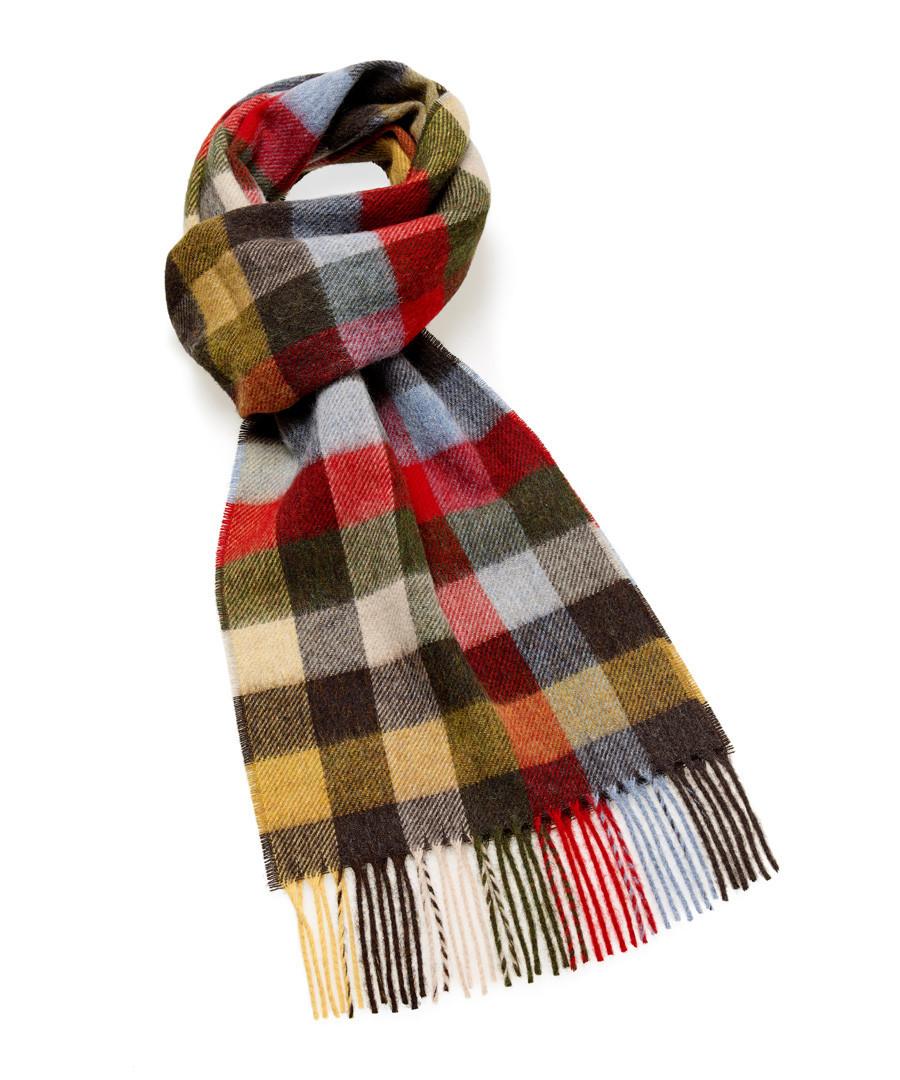 Dales olive lambswool scarf Sale - bronte