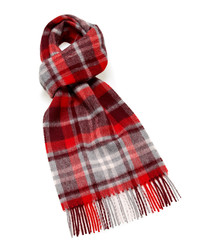 Dales red lambswool scarf