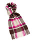 Dales cerise check lambswool scarf Sale - bronte Sale