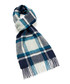 Dales teal check lambswool scarf Sale - bronte Sale