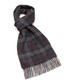 Dales wine & grey check lambswool scarf Sale - bronte Sale