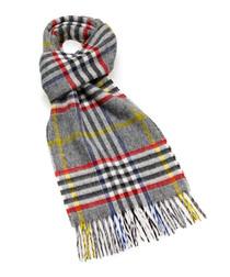 Dales black & multi lambswool scarf