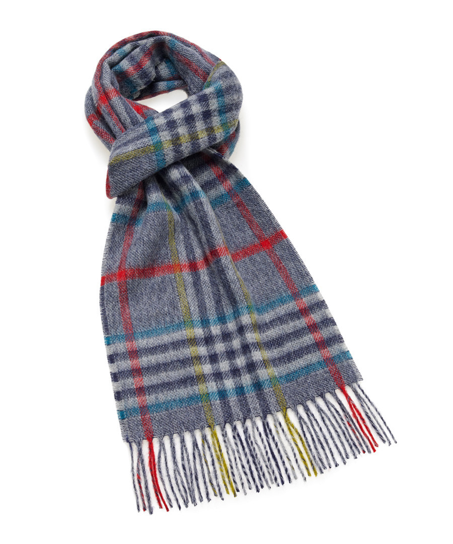 Dales grey & multi lambswool scarf Sale - bronte