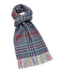 Dales grey & multi lambswool scarf