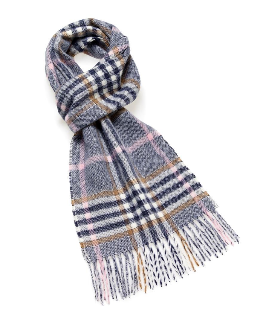 Dales navy & multi lambswool scarf Sale - bronte