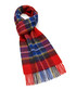 Dales red check lambswool scarf Sale - bronte Sale