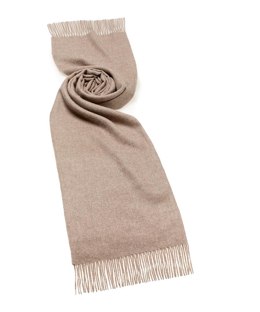 Natural brown alpaca scarf Sale - bronte