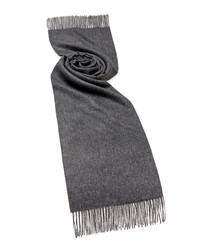Charcoal alpaca scarf