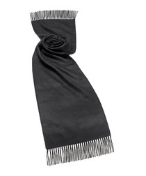 Black alpaca scarf