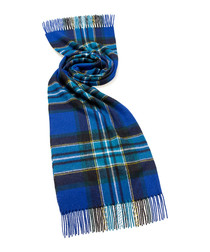 Scampston royal blue lambswool scarf