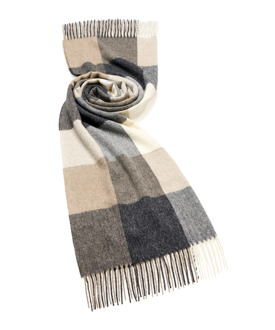 Sledmere neutral lambswool scarf Sale - bronte