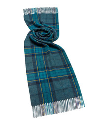 Middleham teal lambswool scarf