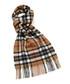 Thompson camel tartan lambswool scarf Sale - bronte Sale