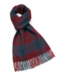 Lindsay tartan lambswool scarf