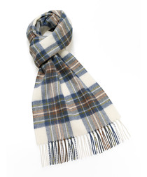 Stewart blue lambswool scarf