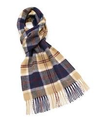 Tartan check lambswool scarf