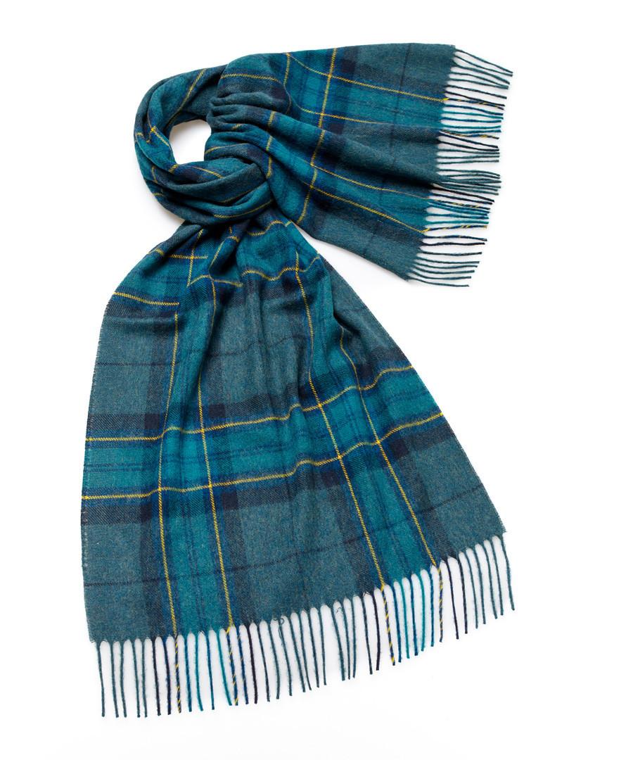 Middleham teal lambswool scarf Sale - bronte