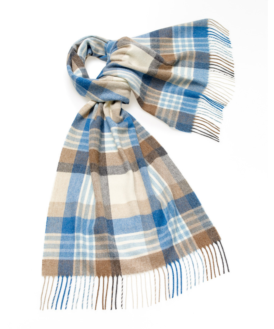 Newsam aqua lambswool scarf Sale - bronte